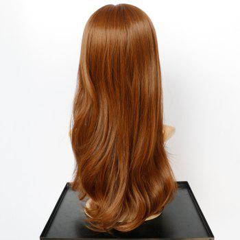 Prevailing Synthetic Long Slightly Curled Full Bang Women's Mixed Color Hair Wig - COLORMIX