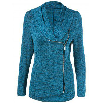 Plus Size Side Zipper Heather Jacket