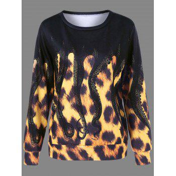 Leopard and Octopus Print Sweatshirt