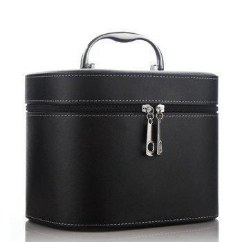 Zipper Faux Leather Makeup Storage Bag
