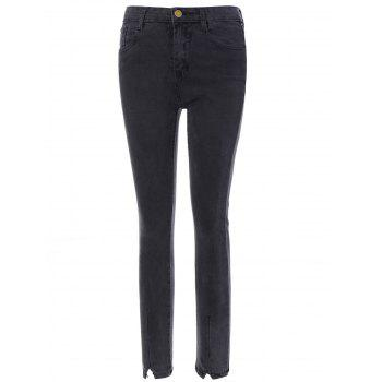Elastic Black Skinny Jeans With Pocket