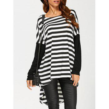 High Low Striped Tee