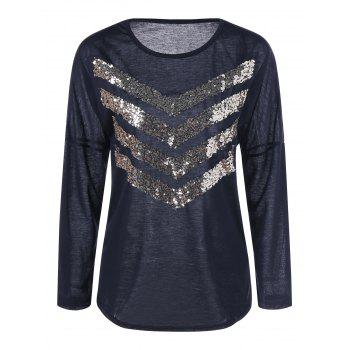Long Sleeve Sequin Tee