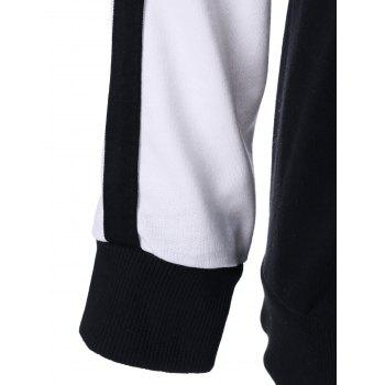 Two Tone Tee With Pants Sport Suit - WHITE/BLACK XL