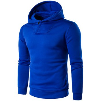 Hooded Long Sleeve Button Embellished Hoodie