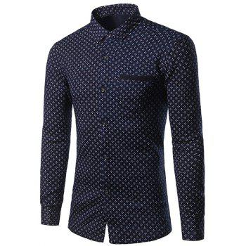 Thicken Turndown Collar Print Shirt