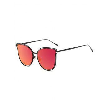 Travel Hollow Out Double Frames Butterfly Shaped Mirrored Sunglasses