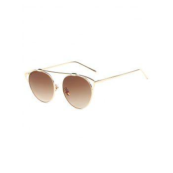 Travel Hollow Out Angle Oval Sunglasses