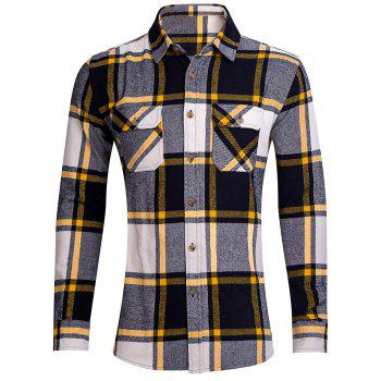 Button Up Chest Pocket Plaid Shirt