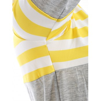 Striped Pocket Tunic T-Shirt - YELLOW L