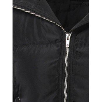 Hooded Multi Pocket Zip Up Padded Coat - XL XL