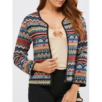 Contrast Trim Tribal Jacket