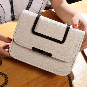 Metal Chains Flap Crossbody Bag