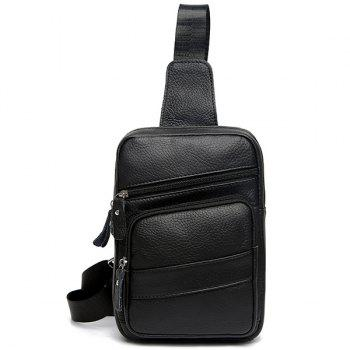 Faux Leather Sling Pack - BLACK BLACK