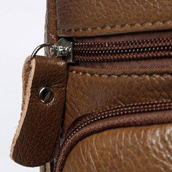 Faux Leather Sling Pack -  COFFEE