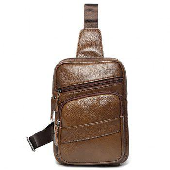 Faux Leather Sling Pack - COFFEE COFFEE