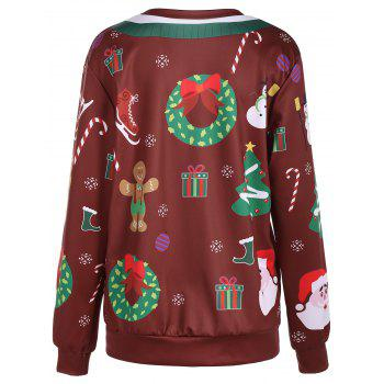 Christmas Ornate Print Sweatshirt - ONE SIZE ONE SIZE
