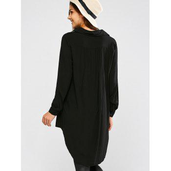 Longline High Low Blouse - S S