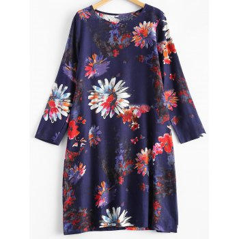 Blossom Print Linen A-Line Dress