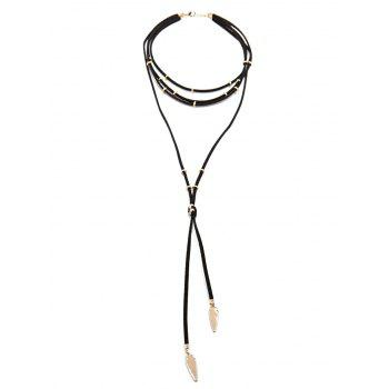 Layered Faux Leather Rope Choker