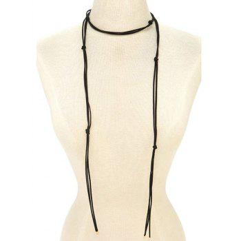Choker Drawstring Sweater Chain
