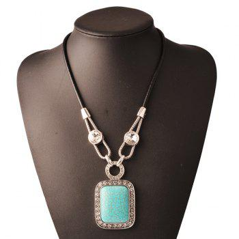 Geometric Faux Gemstone Pendant Necklace