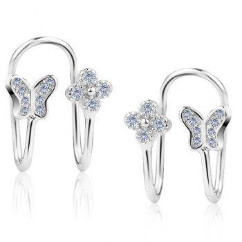 Silver Plated Clip Earrings Without Piercing