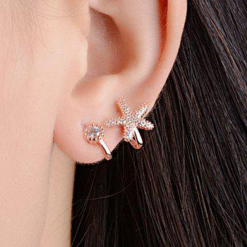 Star Rhinestone Clip Earrings
