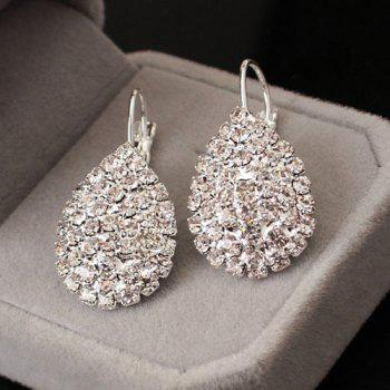 Rhinestone Embellished Teardrop Earrings