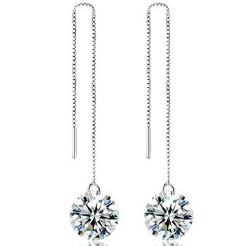 Rhinestone Adorn Chain Earrings