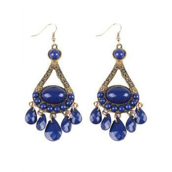 Bohemian Beads Chandelier Earrings