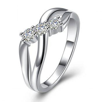 Rhinestone Infinite Shape Ring