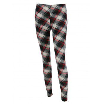 Plaid Fitted Leggings