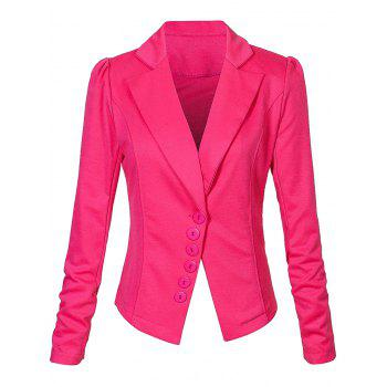 One Button Lapel Asymmetric Jacket Blazer - TUTTI FRUTTI TUTTI FRUTTI