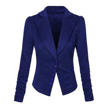 One Button Lapel Asymmetric Jacket Blazer