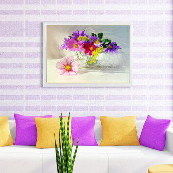 DIY Colorful Florals Beads Cross Stitch