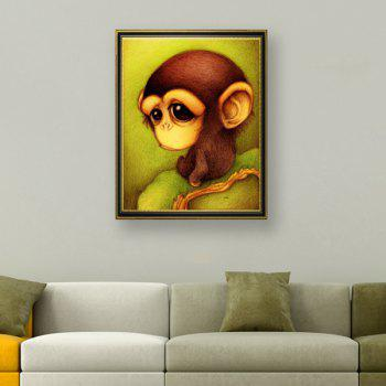 DIY Cartoon Monkey Animal Beads Cross Stitch
