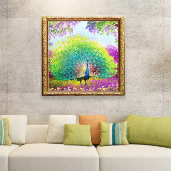 DIY Tail Peacock Beads Painting Cross Stitch