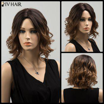 Siv Shaggy Medium Colormix Centre Parting Wavy Human Hair Wig