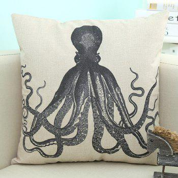 Home Decor Octopus Printed Cushion Linen Pillow Case