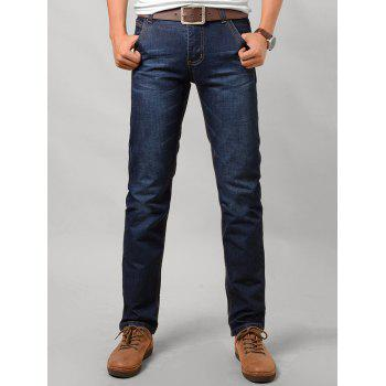 Low Waist Zipper Fly Jeans in Taper Fit