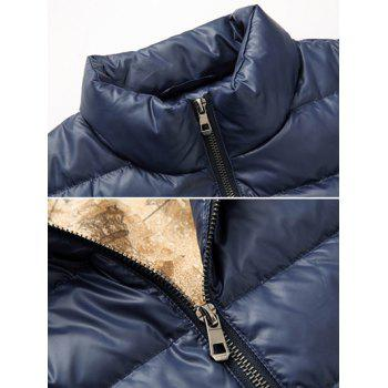 Slim Fit Funnel Neck Zipper Up Quilted Jacket - M M