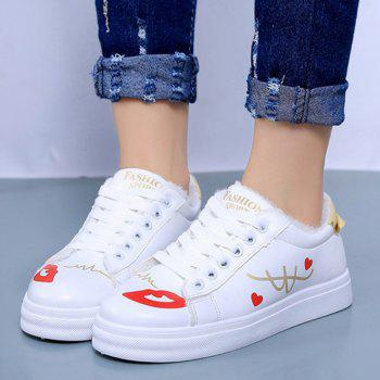 Tie Up Colour Spliced Athletic Shoes - 38 38