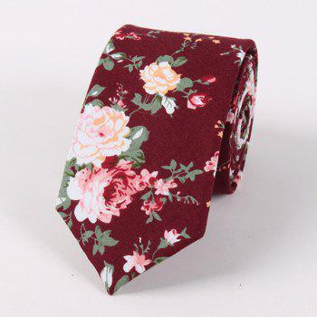 Casual Floral Printed Neck Tie