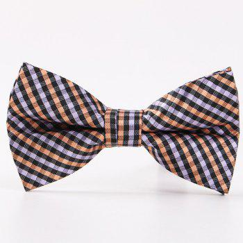 British Style Plaid Pattern Bow Tie