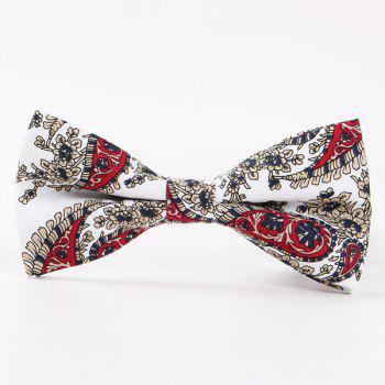 British Style Flower Shivering Bow Tie