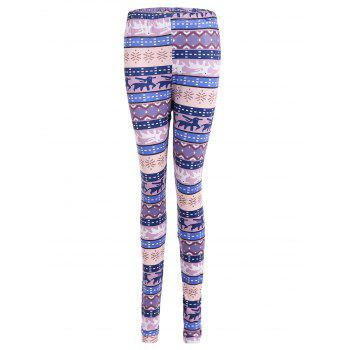 Tribal Print Geometric Christmas Skinny Leggings