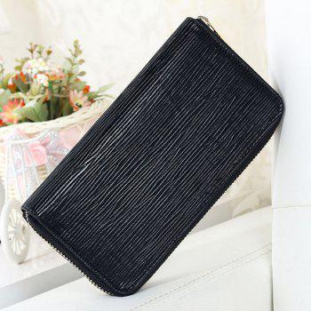 PU Leather Embossing Zip Wallet