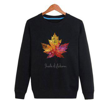 Maple Leaf Print Long Sleeve Sweatshirt
