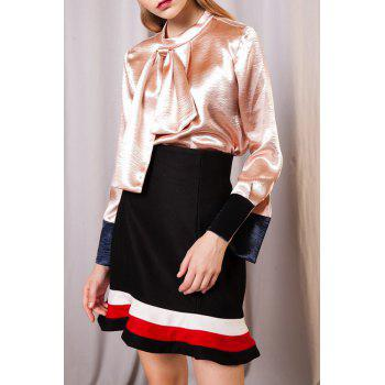Blowknot Satin Face Blouse